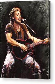 The Boss Rock And Roll Acrylic Prints