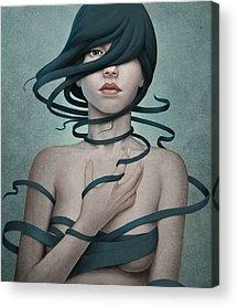 Woman Portrait Acrylic Prints