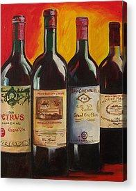 Wine Bottle Paining Paintings Acrylic Prints