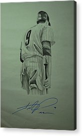 Hunter Pence Drawings Acrylic Prints