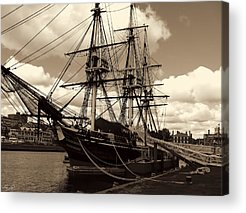 Ship In Sepia Acrylic Prints
