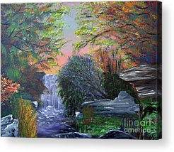 Southern Indiana Autumn Paintings Acrylic Prints