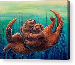 Otter Acrylic Prints