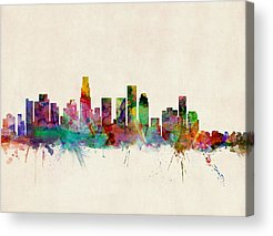 Los Angeles Skyline Acrylic Prints