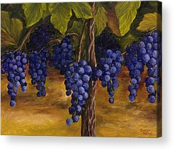 Blue Grapes Acrylic Prints