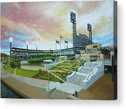 Pennsylvania Baseball Parks Paintings Acrylic Prints