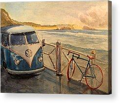 Volkswagen Van Paintings Acrylic Prints