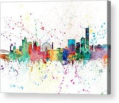 Manchester Skyline Acrylic Prints