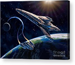 Space Ships Acrylic Prints