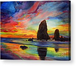 Colorful Cloud Formations Acrylic Prints