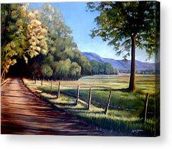 Smokey Mountains Paintings Acrylic Prints