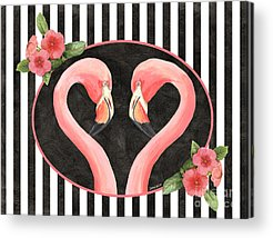 Flamingo Flower Acrylic Prints