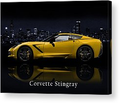 Muscle Car Photographs Acrylic Prints