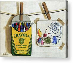 Crayons Acrylic Prints