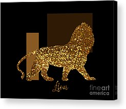 Gold Lame Digital Art Acrylic Prints