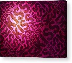 Kiss Digital Art Acrylic Prints