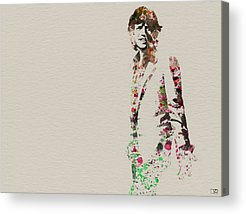 Mick Jagger Paintings Acrylic Prints