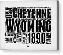 Yellowstone Digital Art Acrylic Prints