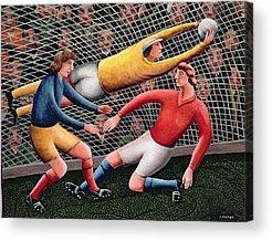 Soccer Net Acrylic Prints