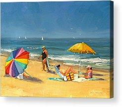 People On Beach Acrylic Prints