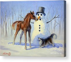 Snowman Acrylic Prints