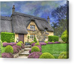Country Cottage Photographs Acrylic Prints