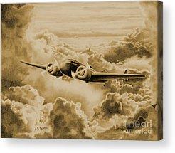 Aviator Drawings Acrylic Prints