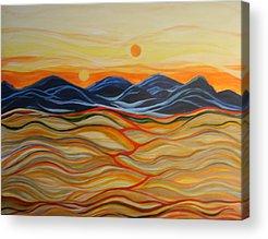 Macrocosm Paintings Acrylic Prints