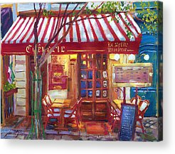 Store Fronts Paintings Acrylic Prints