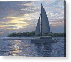 Sailboat Sunset Acrylic Prints