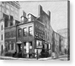City Scape Drawings Acrylic Prints