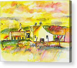 Pen Paintings Acrylic Prints