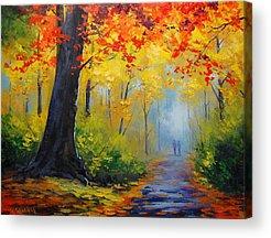 Maple Leaves Acrylic Prints