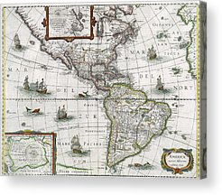 Old Map Paintings Acrylic Prints