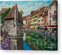 Village In Europe Acrylic Prints