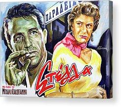 1955 Movies Paintings Acrylic Prints