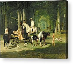 Horse And Carriage Acrylic Prints