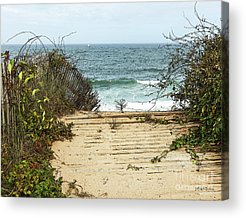 Beach Fence Digital Art Acrylic Prints