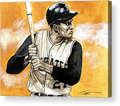Pittsburgh Pirates Drawings Acrylic Prints