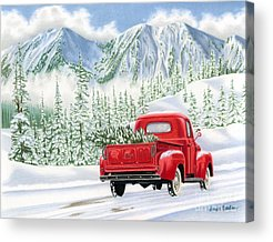 Winter Roads Acrylic Prints