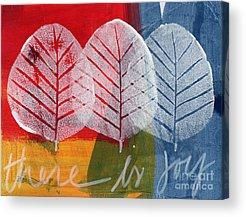 Leaf Paintings Acrylic Prints
