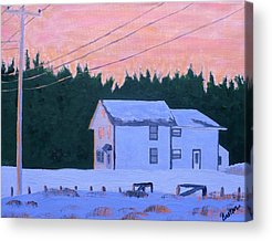 Maine Farmhouse Acrylic Prints