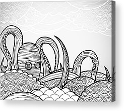 Pen And Ink Acrylic Prints