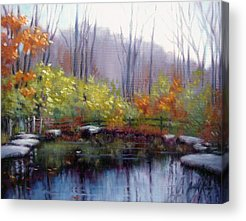 Nature Center Pond Paintings Acrylic Prints