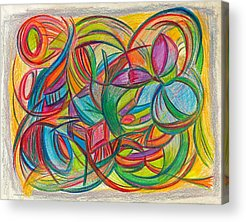 Passion Fruit Drawings Acrylic Prints