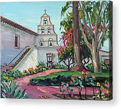 United States Mission Church Paintings Acrylic Prints