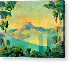 Central America Paintings Acrylic Prints