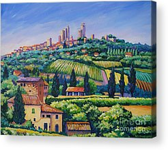 Italian Landscapes Paintings Acrylic Prints