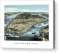 River View Mixed Media Acrylic Prints