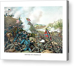 Battle Of Franklin Acrylic Prints